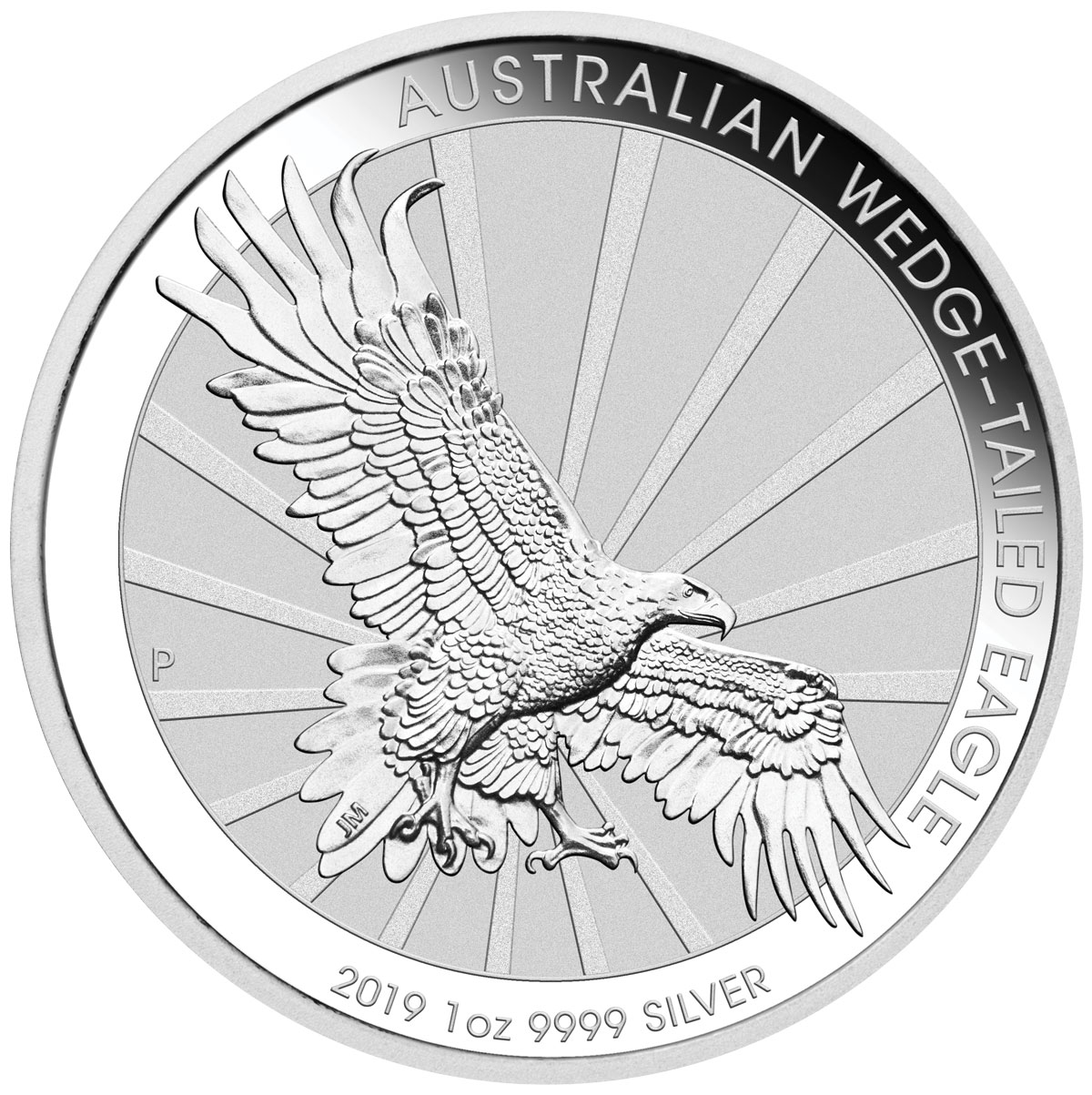 2019-P Australia 1 oz Silver Wedge-Tailed Eagle $1 Coin GEM BU