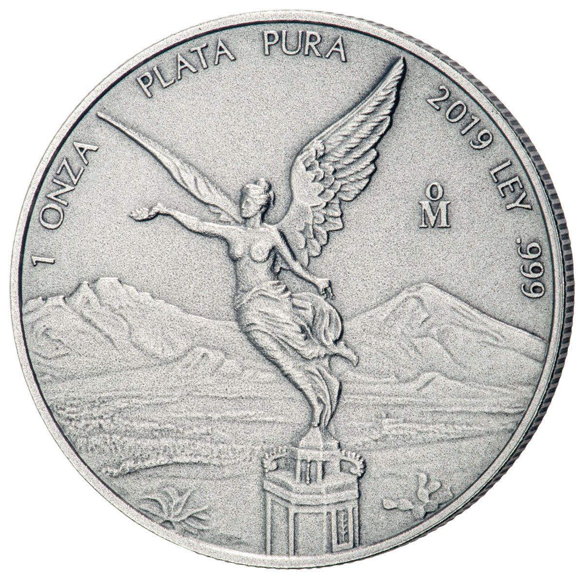 2019-Mo Mexico 1 oz Silver Libertad Antiqued 1 Onza Coin GEM BU