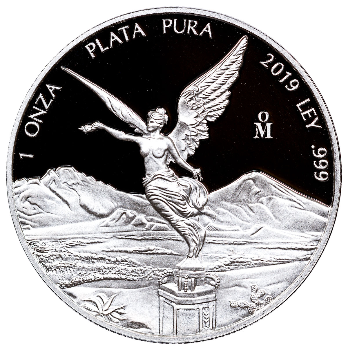 2019-Mo Mexico Silver Libertad Proof 1 Onza Coin GEM Proof