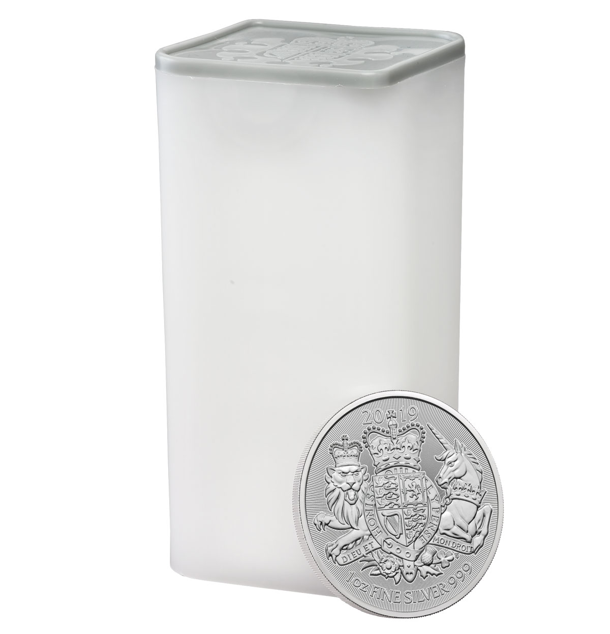 Roll of 25 - 2019 Great Britain 1 oz Silver Royal Arms £2 Coins GEM BU