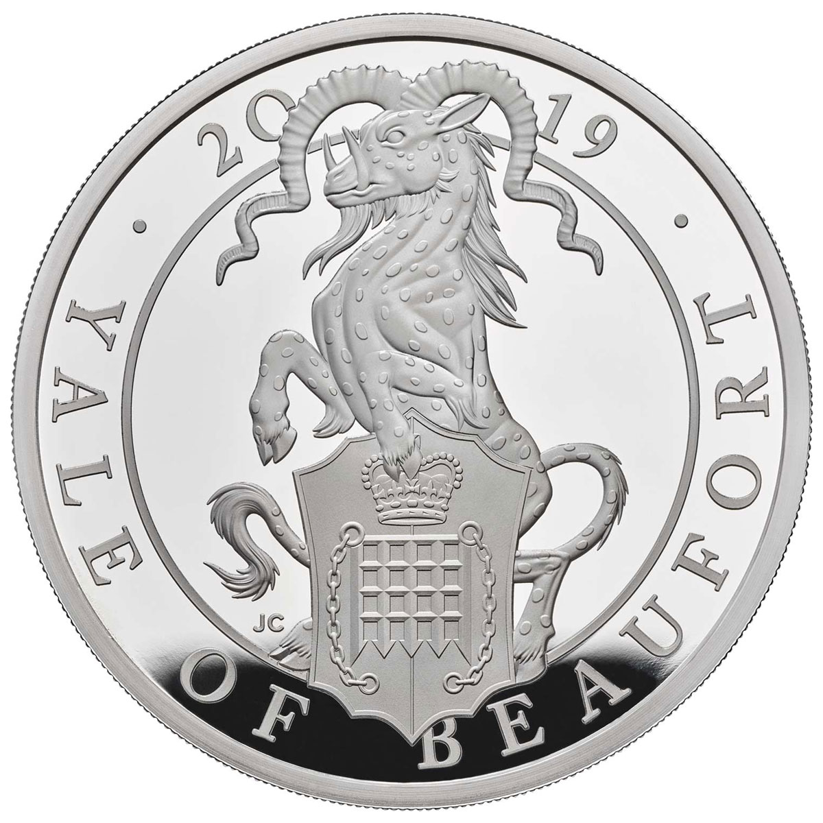 2019 Great Britain 1 oz Silver Queen's Beasts - The Yale of Beaufort Proof £2 Coin GEM Proof OGP
