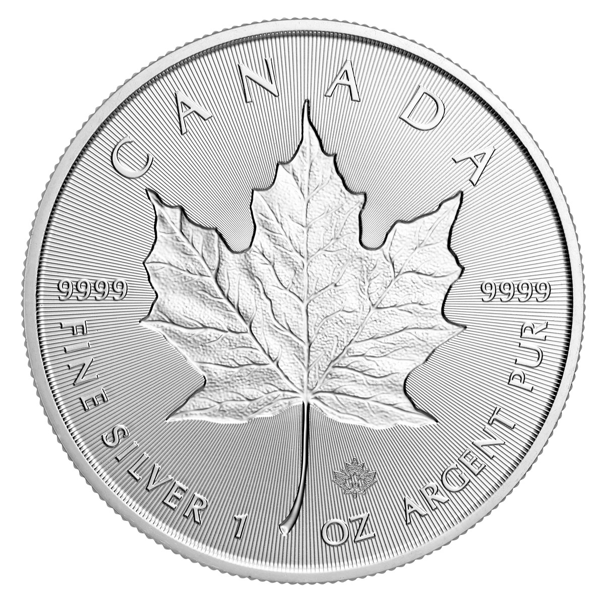 2019 Canada 1 Oz Silver Maple Leaf Incuse 5 Coin Gem Bu