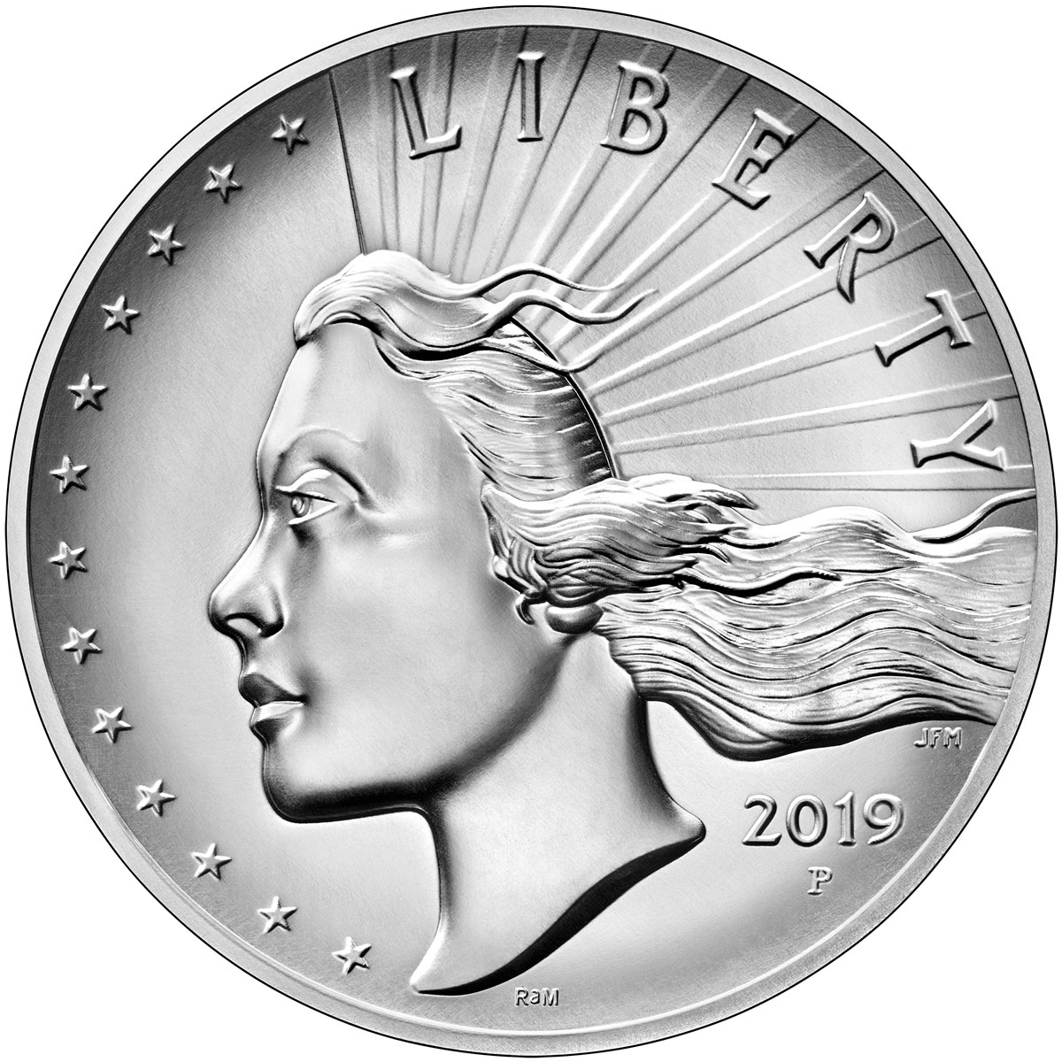 2019-P American Liberty High Relief Medal 2.50 oz Silver Medal With OGP