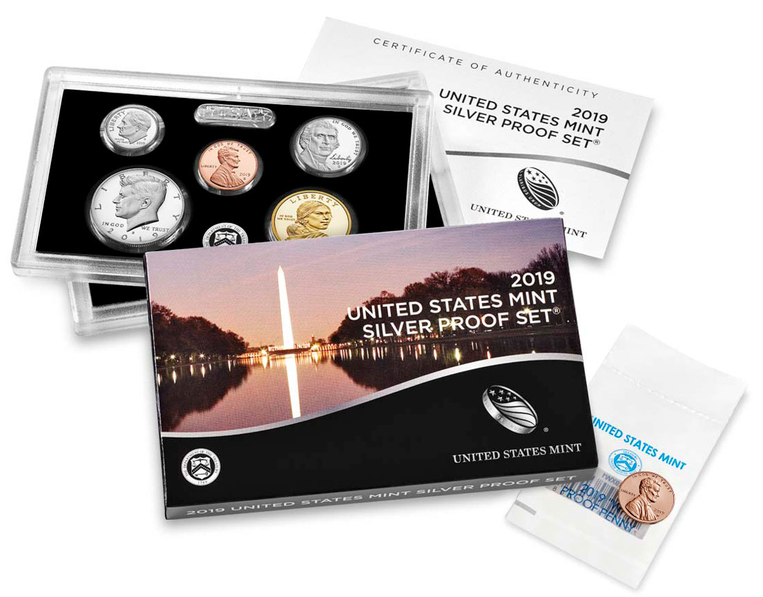 2019 U.S. Silver Proof Coin Set