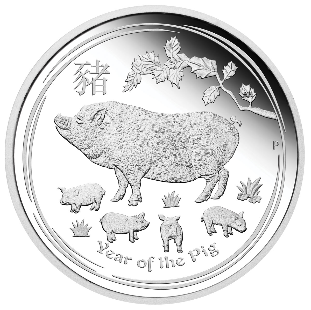2019-P Australia Year of the Pig 1/2 oz Silver Lunar (Series 2) Proof $0.50 Coin GEM Proof