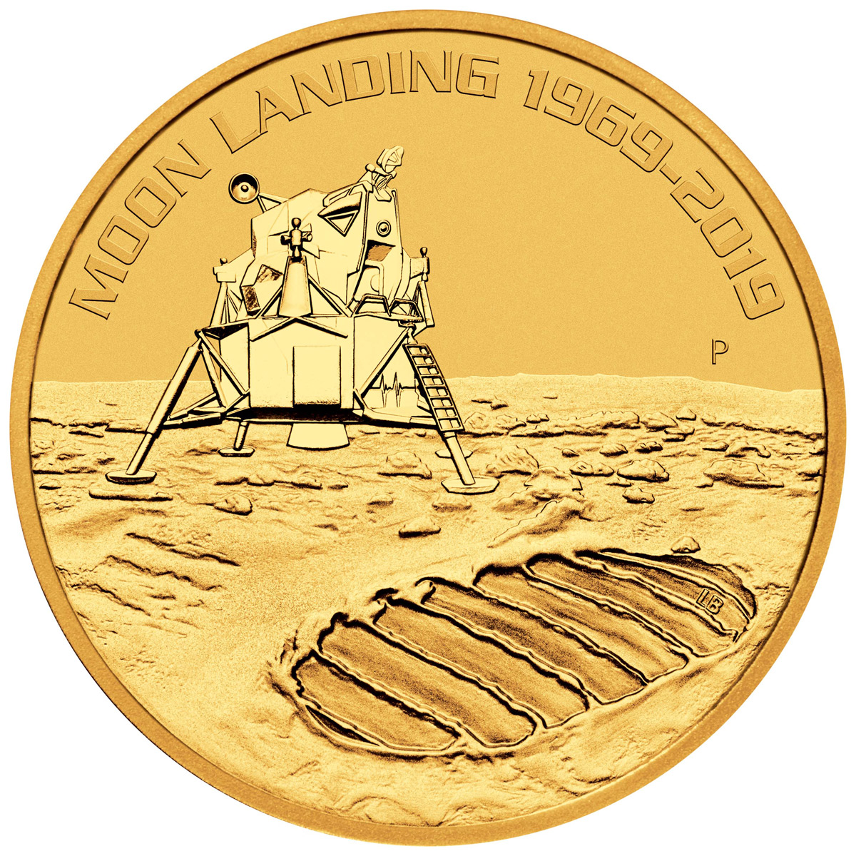 2019-P Australia Apollo 11 Moon Landing 1 oz Gold $100 Coin GEM BU