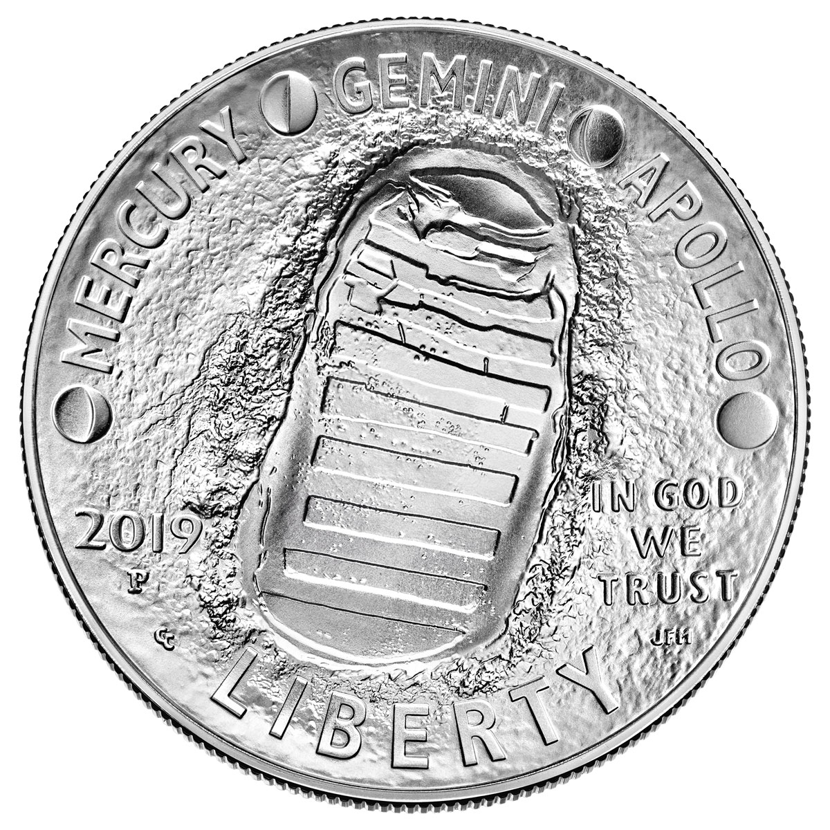 2019-P US Apollo 11 50th Anniversary Commemorative Silver Dollar Coin GEM BU OGP