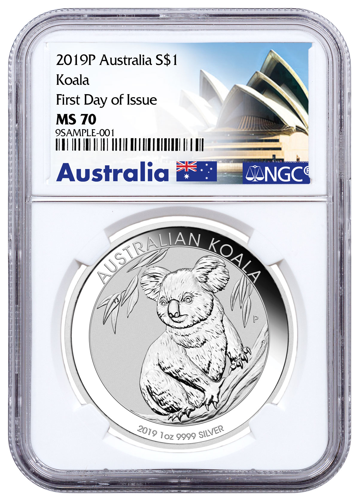 2019 P Tuvalu Abacus 2 oz Silver $2 Coin NGC MS70 FR Pacific Rim Label SKU58517