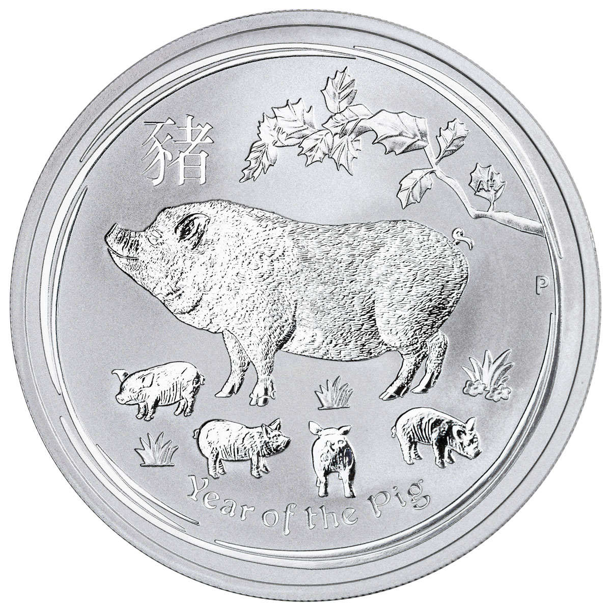 2019-P Australia Year of the Pig 1 oz Silver Lunar (Series 2) $1 Coin GEM BU