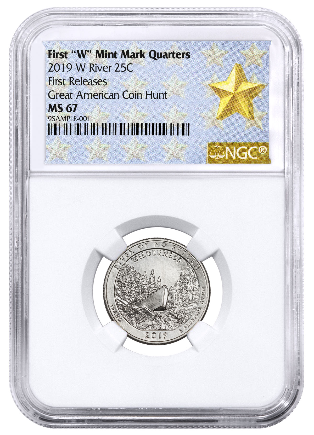 2019 S CLAD PROOF Frank Church River of No Return NP Quarter NGC PF70 UC ER ATB