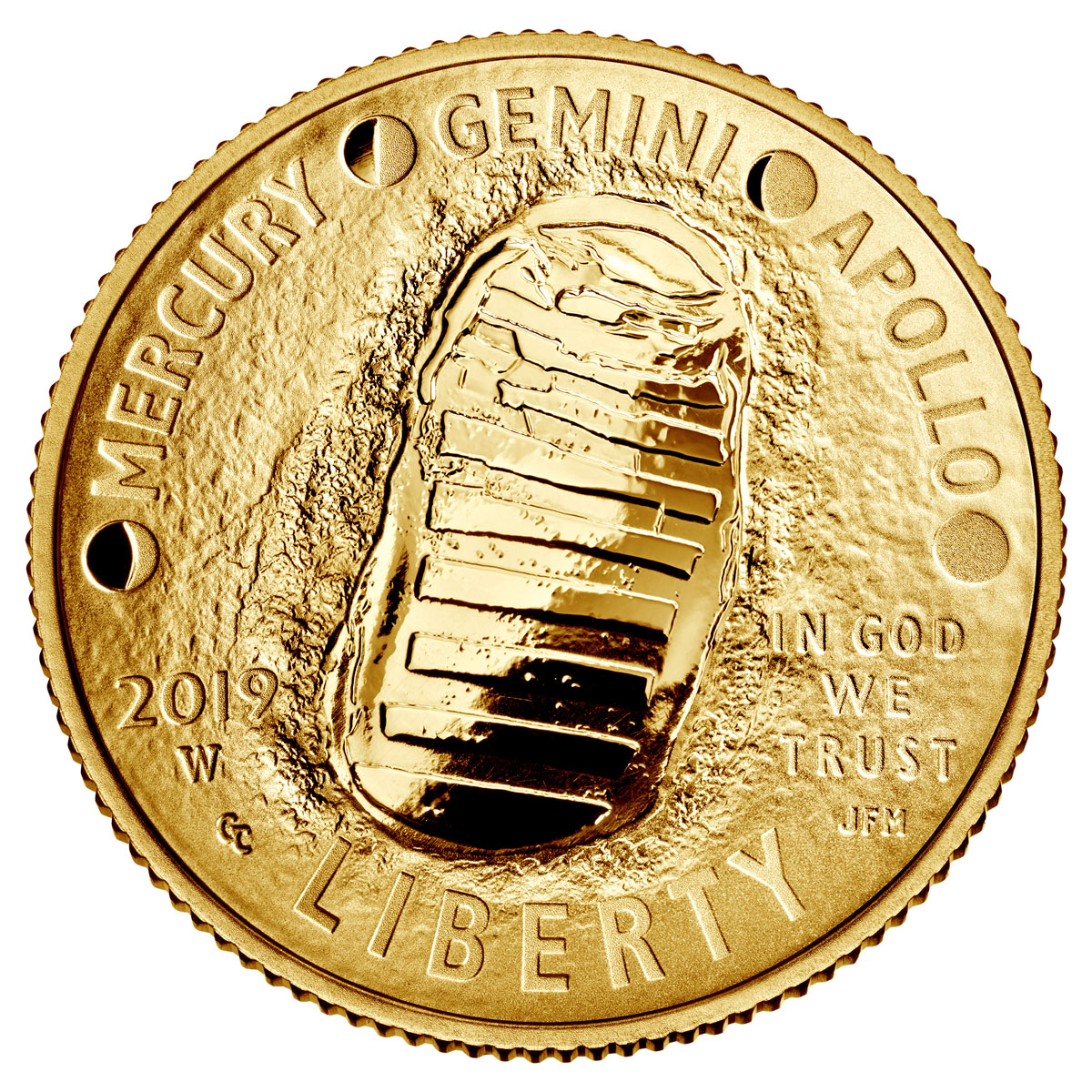 2019-W US Apollo 11 50th Anniversary $5 Gold Commemorative Proof Coin GEM Proof OGP