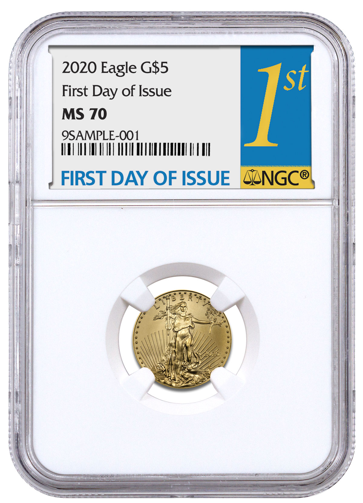 2018 $5 American Gold Eagle NGC MS70 Early Releases Gold Coin Act Label