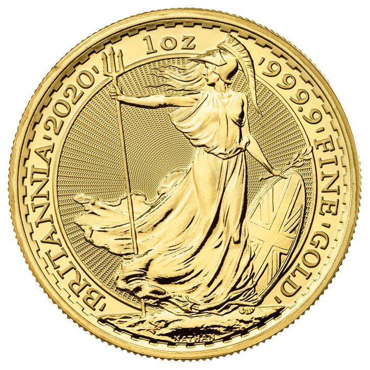 2020 Great Britain Gold Britannia 1 oz Gold £100 Coin GEM BU