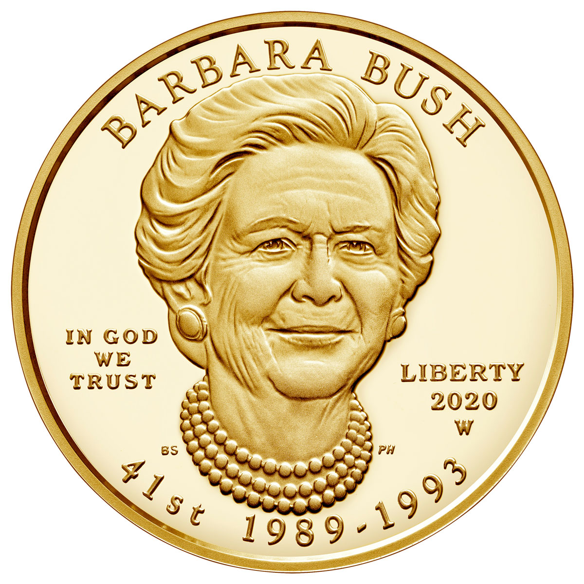 2020-W $10 1/2 oz Gold Barbara Bush First Spouse Proof Coin GEM Proof