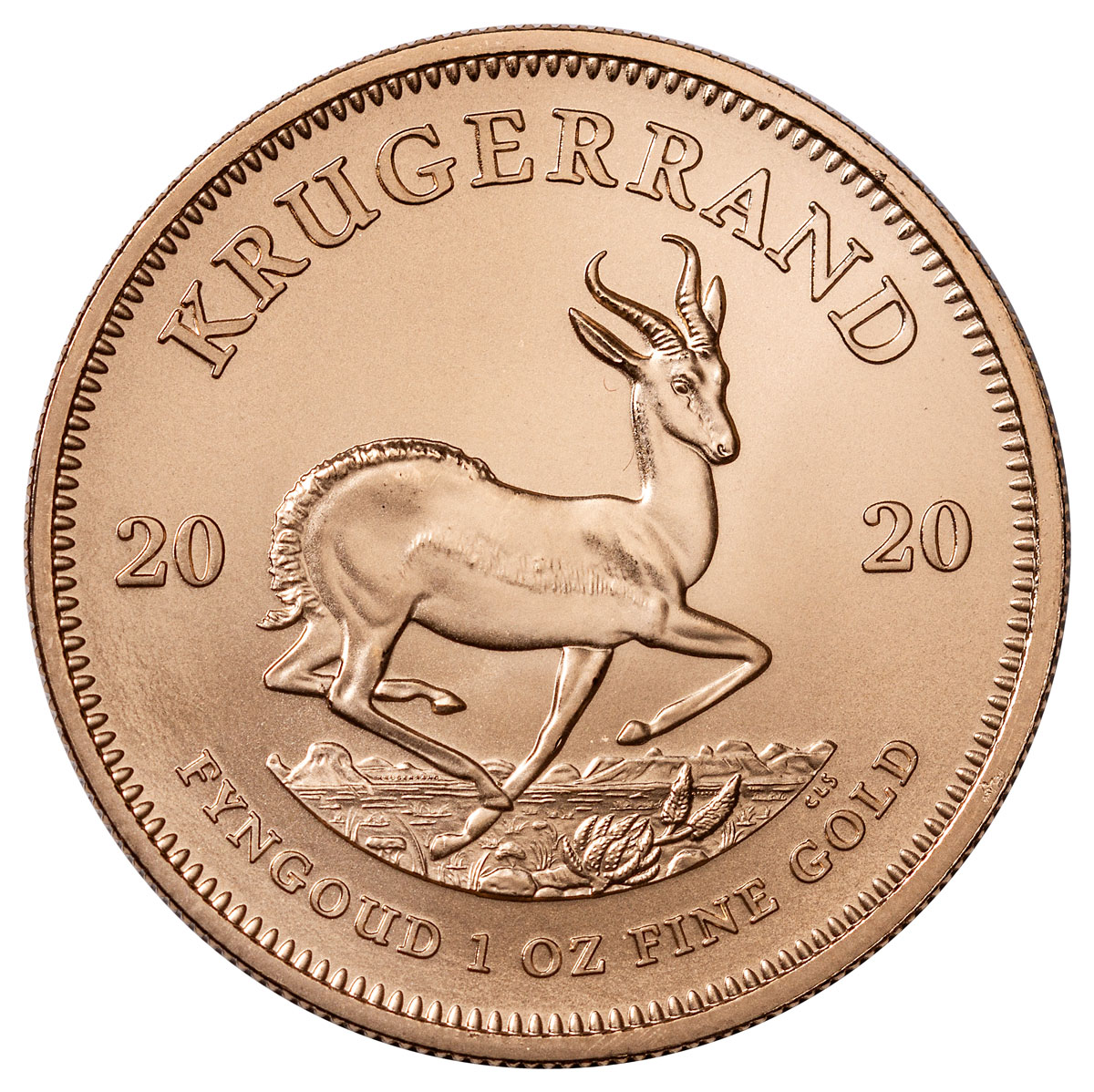 2020 South Africa 1 oz Gold Krugerrand R1 BU Coin GEM BU