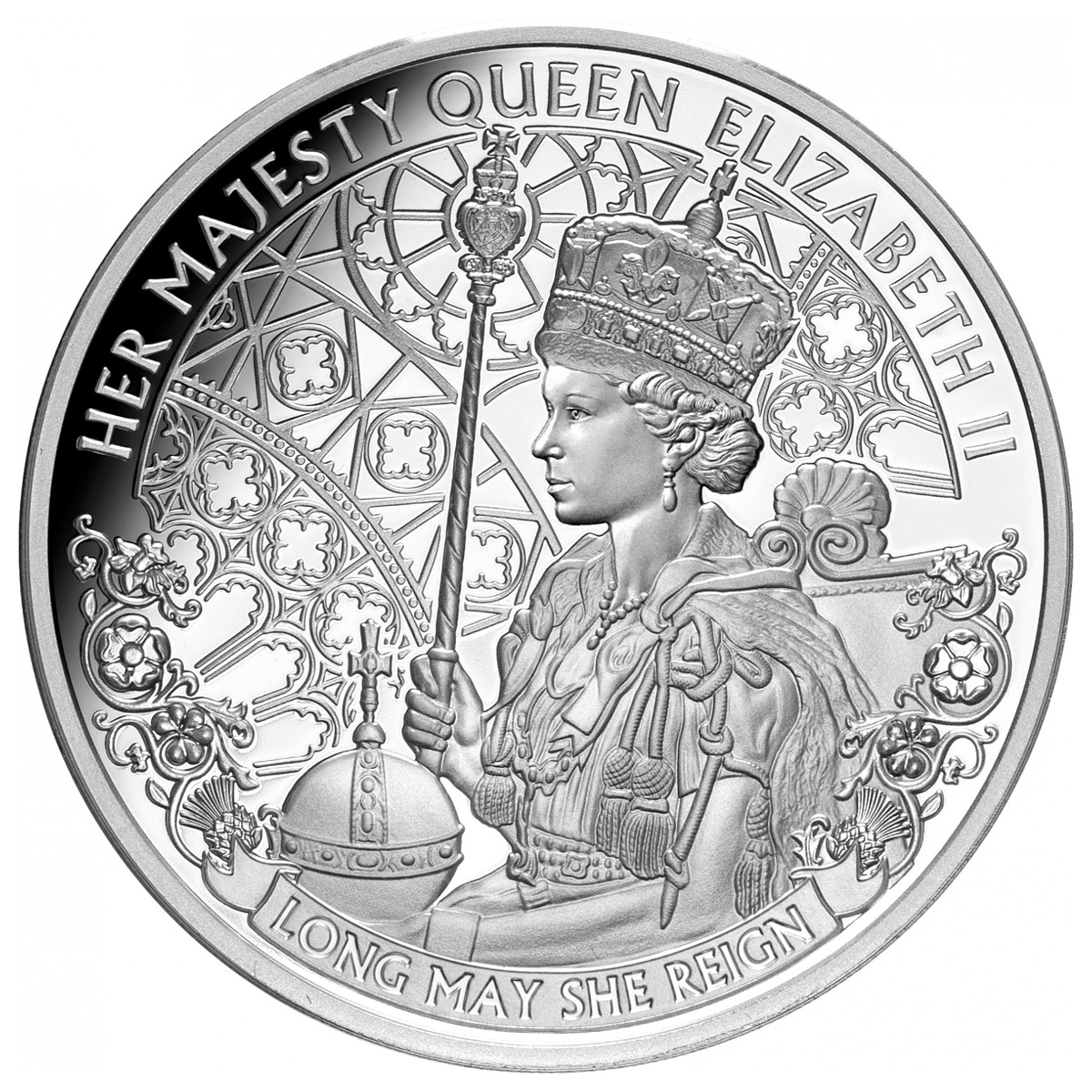 2020 Niue Queen Elizabeth II - Long May She Reign 1 oz Silver Proof $1 Coin GEM Proof OGP