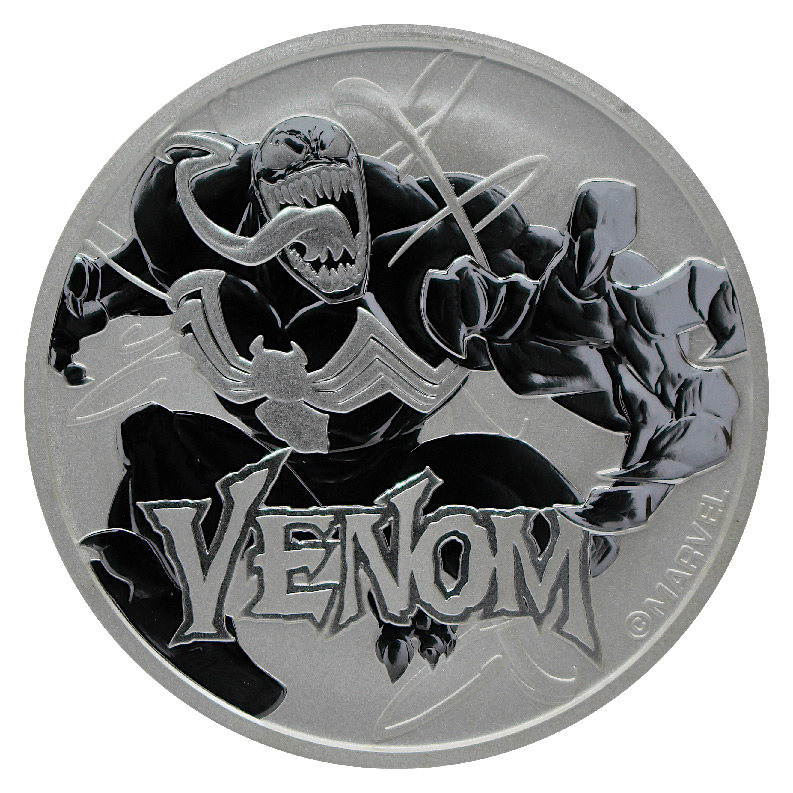 2020 Tuvalu Venom 1 oz Silver Marvel Series $1 Coin GEM BU