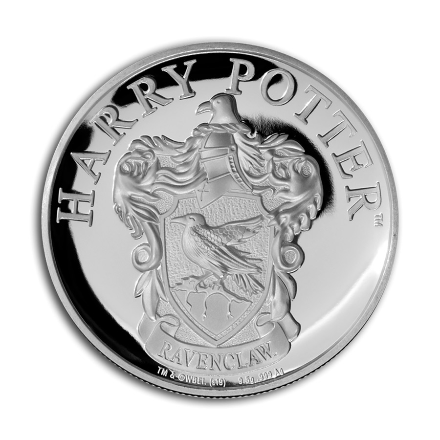 2020 Gibraltar Harry Potter Houses - Hogwarts Ravenclaw House 1/3 oz Silver Proof £1 Coin GEM Proof in Display Card