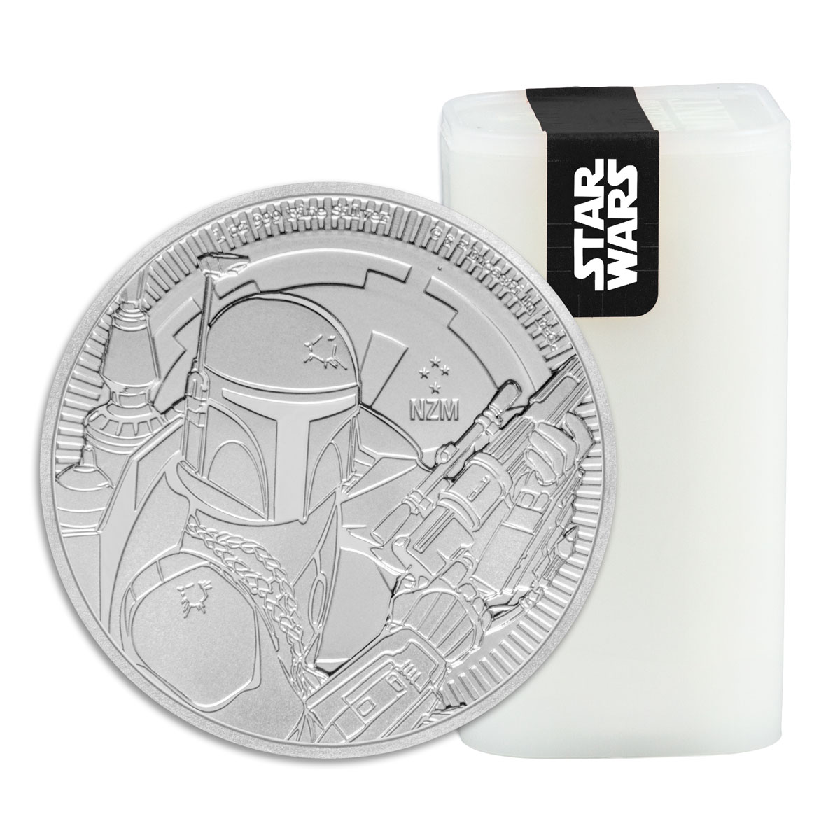 Roll of 25 - 2020 Niue Star Wars Classic - Boba Fett 1 oz Silver $2 Coins GEM BU