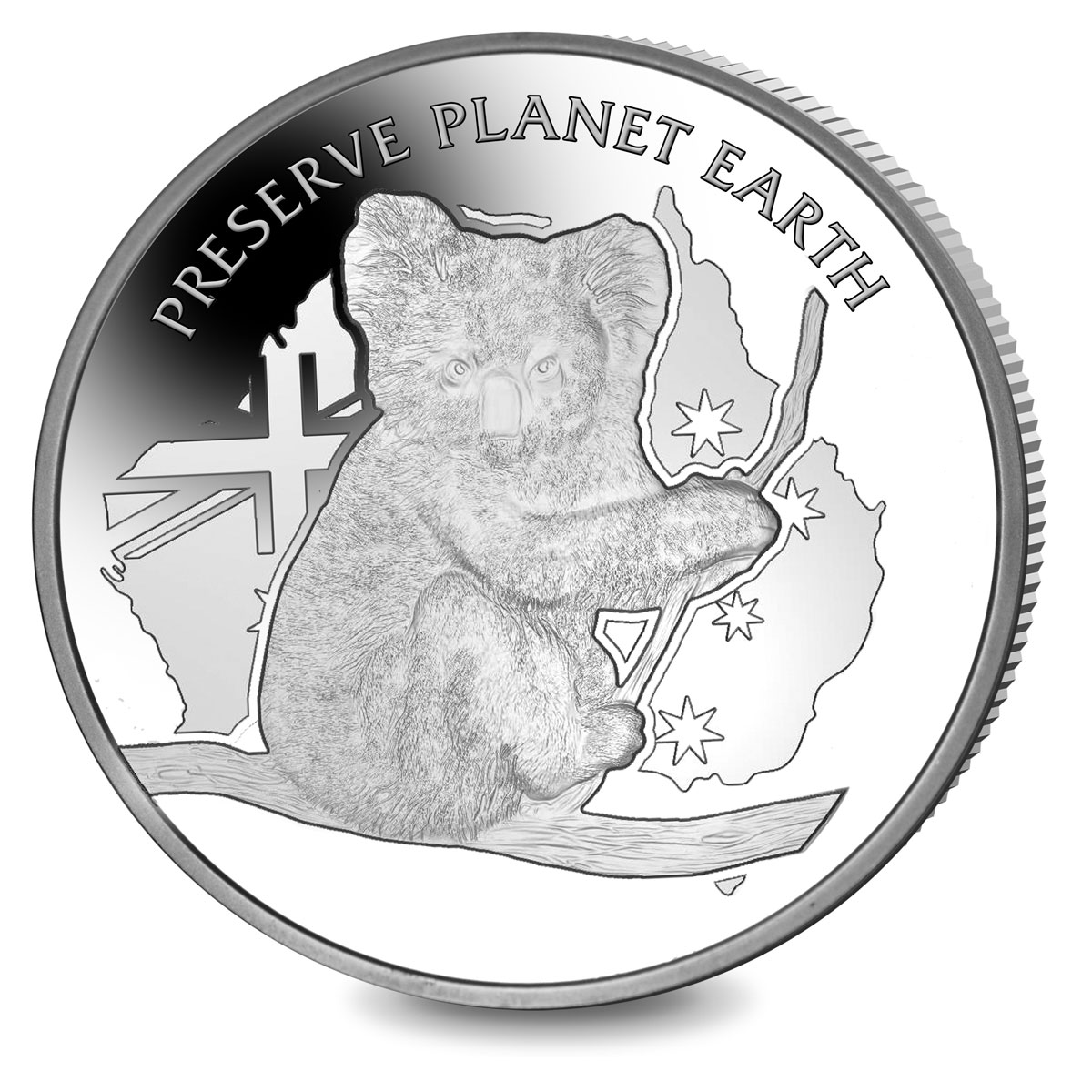 2020 Niue Koala Preserve Planet Earth High Relief 2 oz Silver Proof $2 Coin GEM Proof