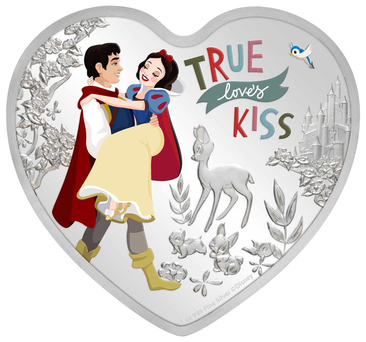 2020 Niue 1-oz Silver Disney Love - Snow White Colorized Proof $2 Coin GEM Proof OGP