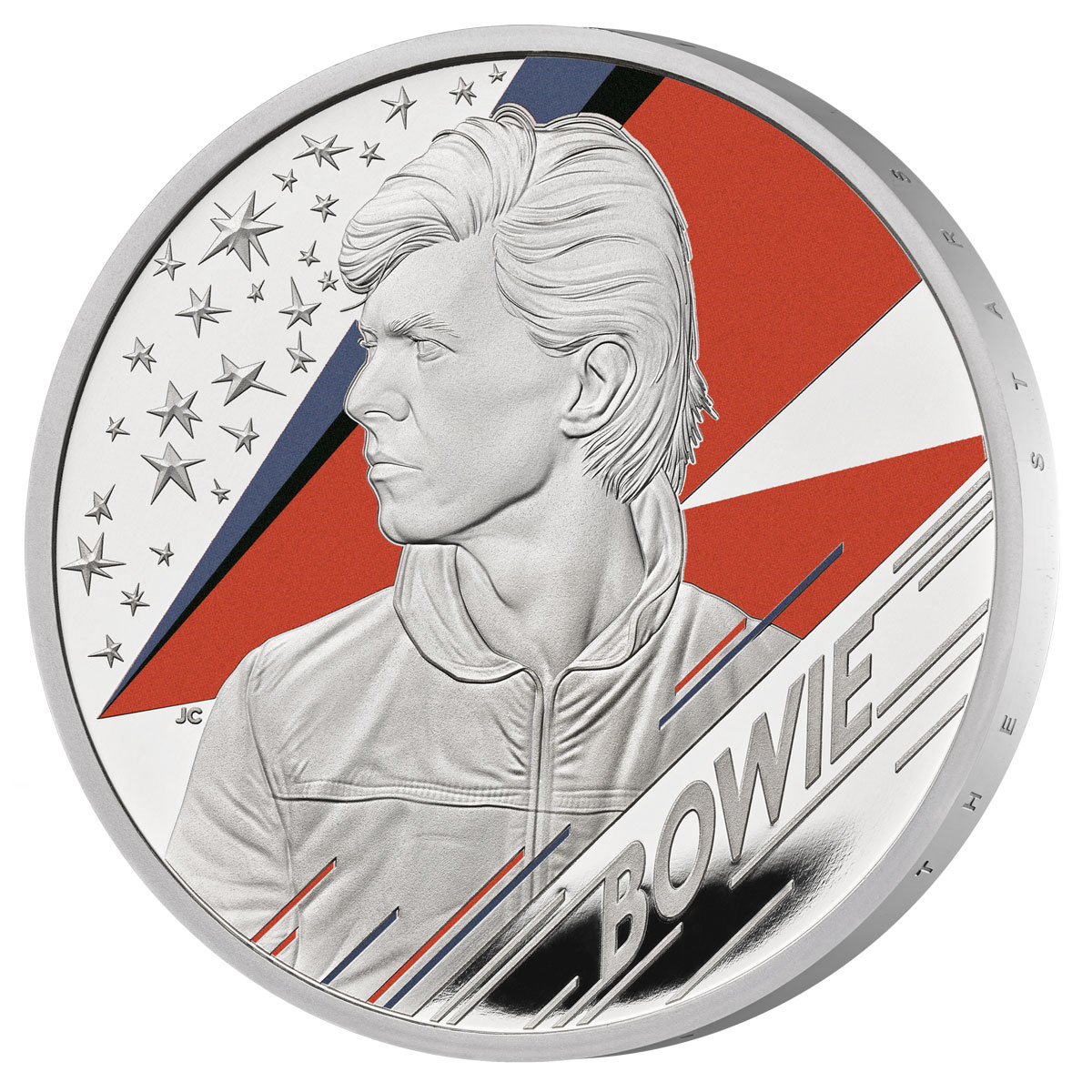 2020 Great Britain Legends of British Music - David Bowie 1 oz Silver Colorized Proof £2 Coin GEM Proof OGP