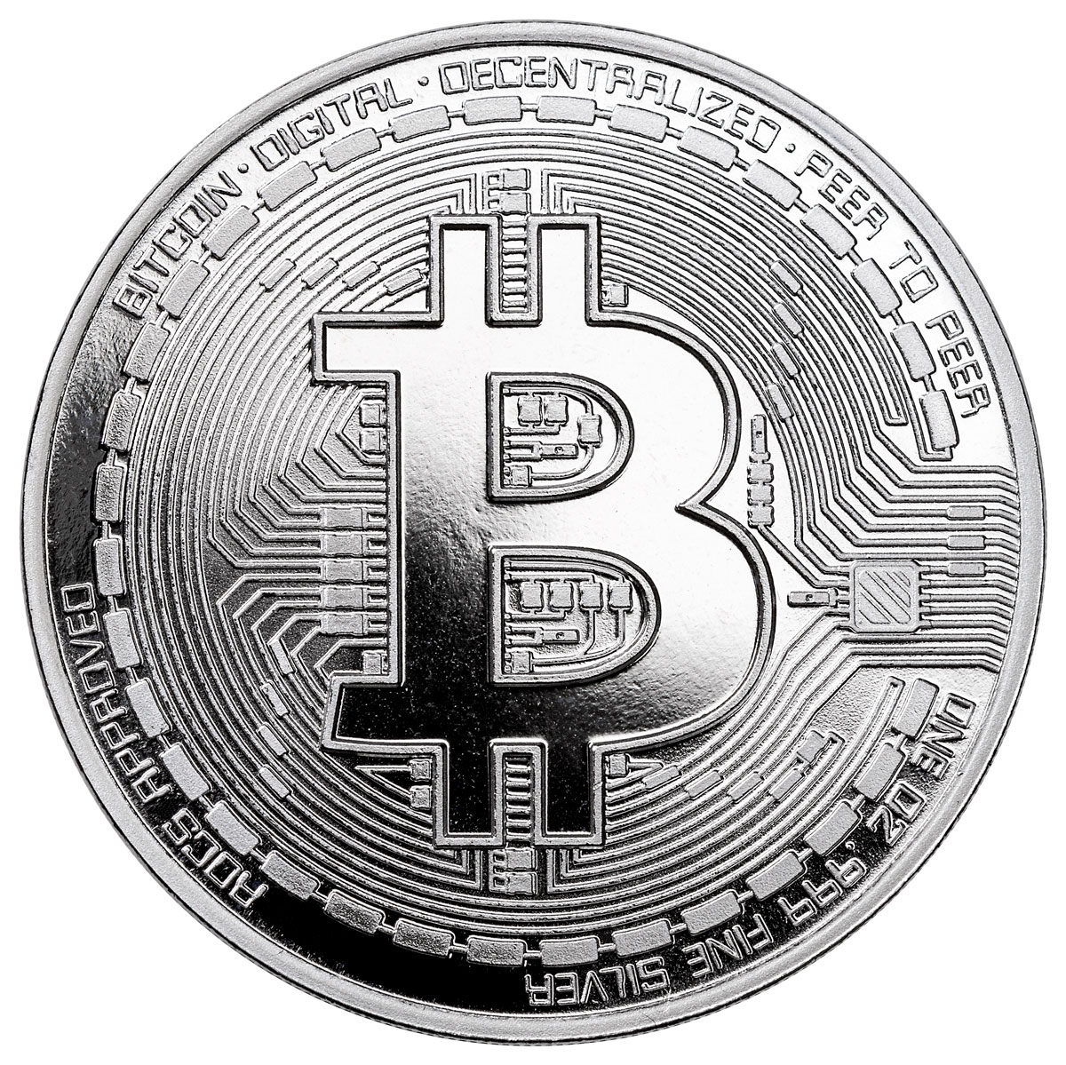 2020 Republic of Chad BitCoin Crypto Currency 1 oz Silver Proof Fr5,000 Coin GEM Proof