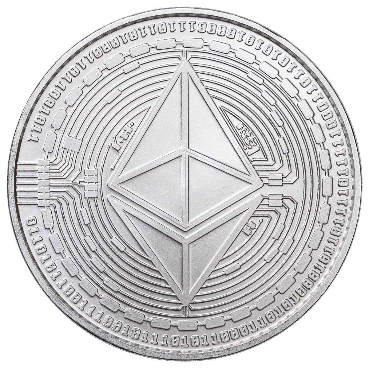 2020 Republic of Chad Fr.5,000 CFA 1 oz Silver Ethereum Crypto Currency BU Coin GEM BU