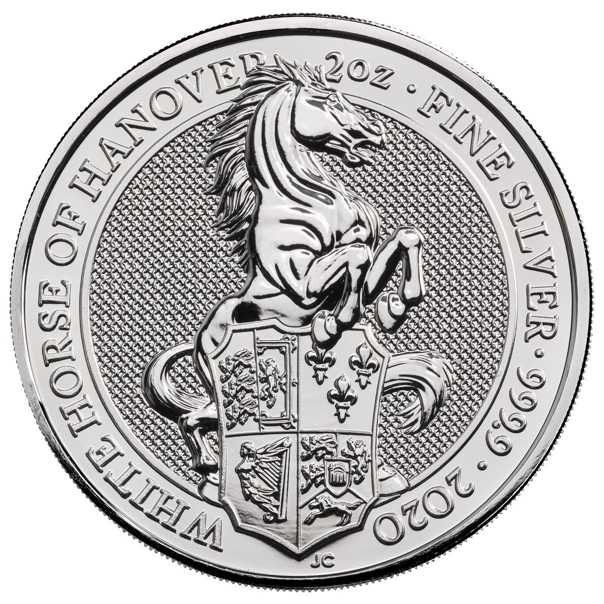 2020 Great Britain 2 oz Silver Queen's Beasts White Horse of Hanover £5 Coin GEM BU