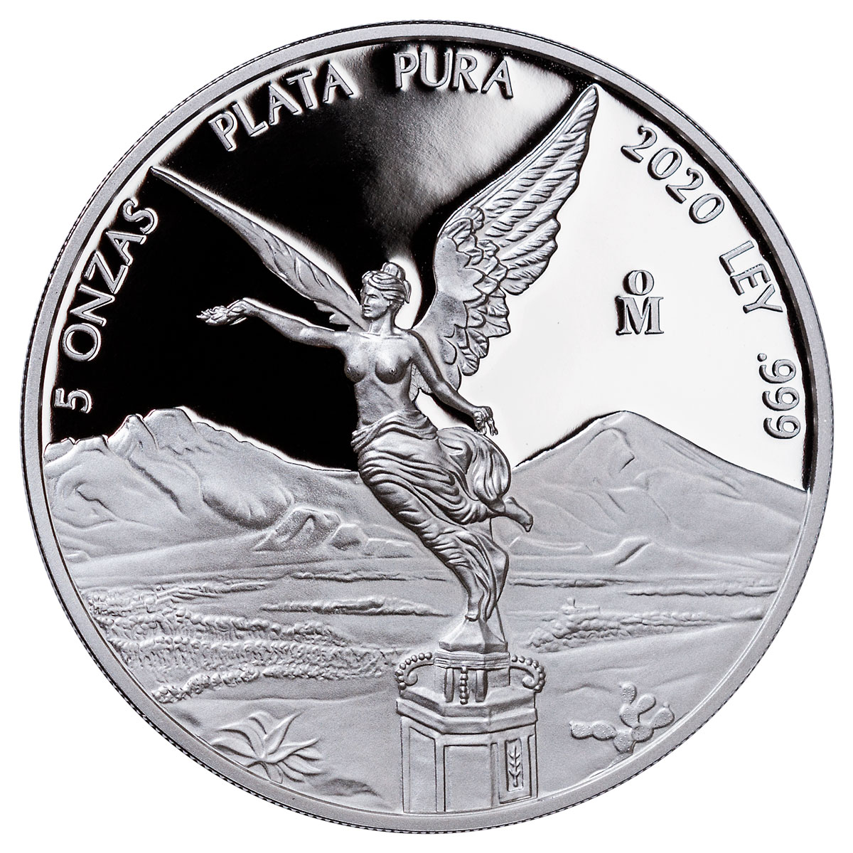 2020-Mo Mexico 5 oz Silver Libertad Proof 5 Coin GEM Proof