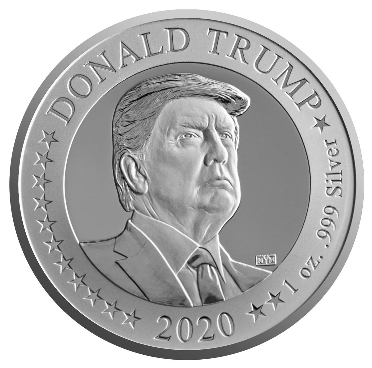 """2020 U.S. Presidential Election """"Flip Coin"""" 1 oz Silver Proof GEM Proof with Pouch and COA"""