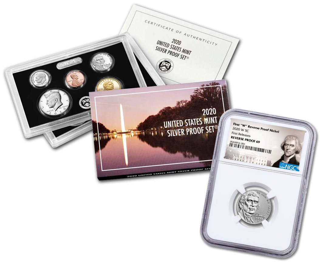 1964 NGC US Mint Complete 5 Coin Proof Set PF69 Kennedy Lincoln Jefferson