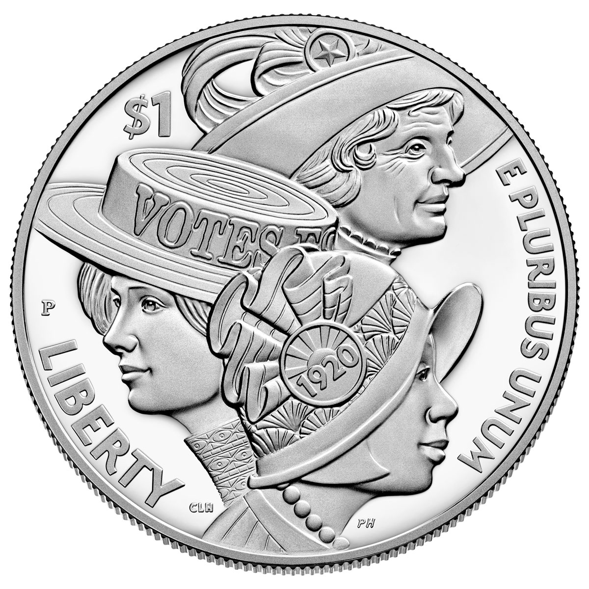 2020-P Women's Suffrage 100th Anniversary Commemorative Silver Dollar Proof Coin GEM Proof