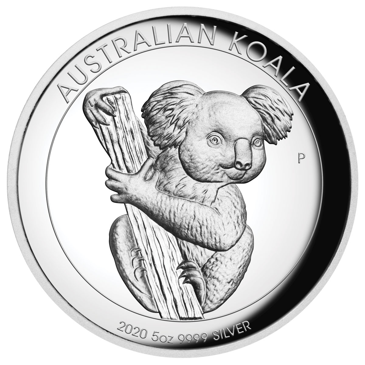 2020-P Australia 5 oz High Relief Silver Koala Proof $8 Coin GEM Proof