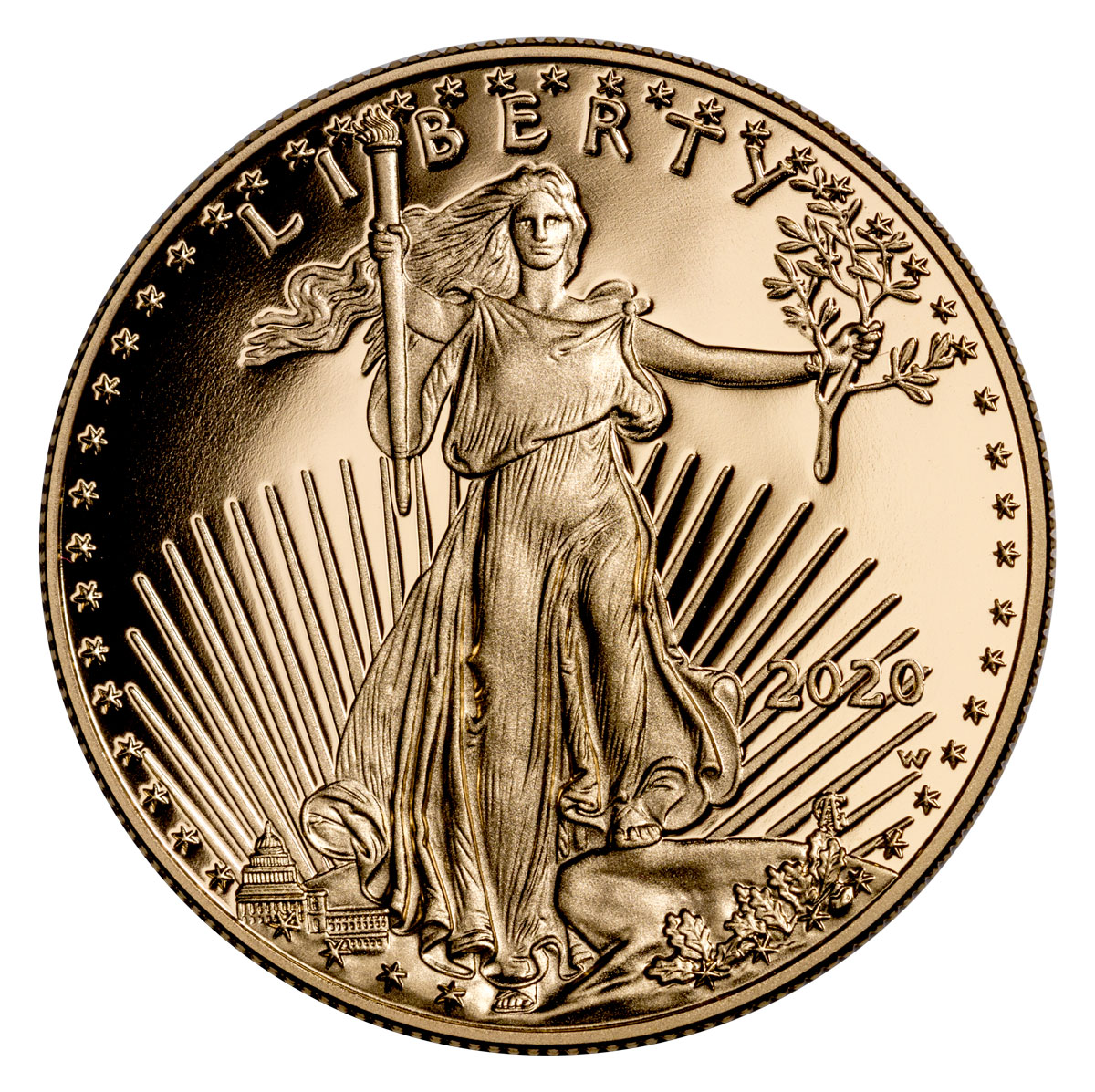 2020-W 1 oz Gold American Eagle Proof $50 Coin GEM Proof OGP