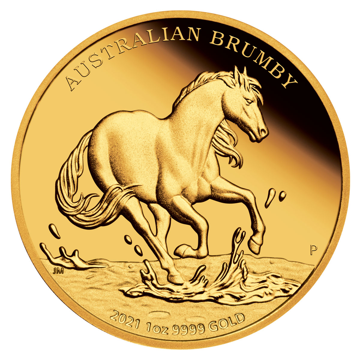 2021 Australia Brumby 1 oz Gold Proof $100 Coin GEM Proof