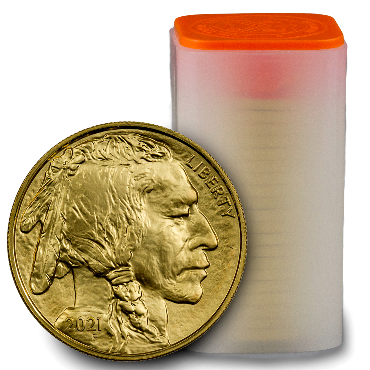 Roll of 20 - 2021 1 oz Gold Buffalo $50 Coins GEM BU
