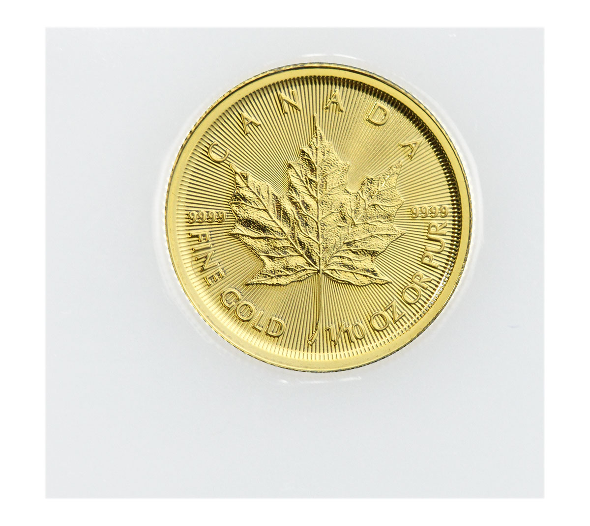 2021 Canada 1/10 oz Gold Maple Leaf $5 Coin GEM BU