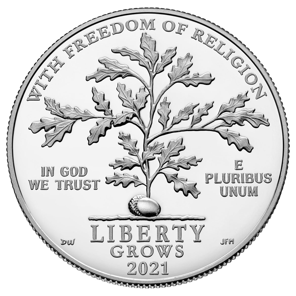 2021-W 1 oz Platinum American Eagle Freedom of Religion Proof $100 GEM Proof OGP