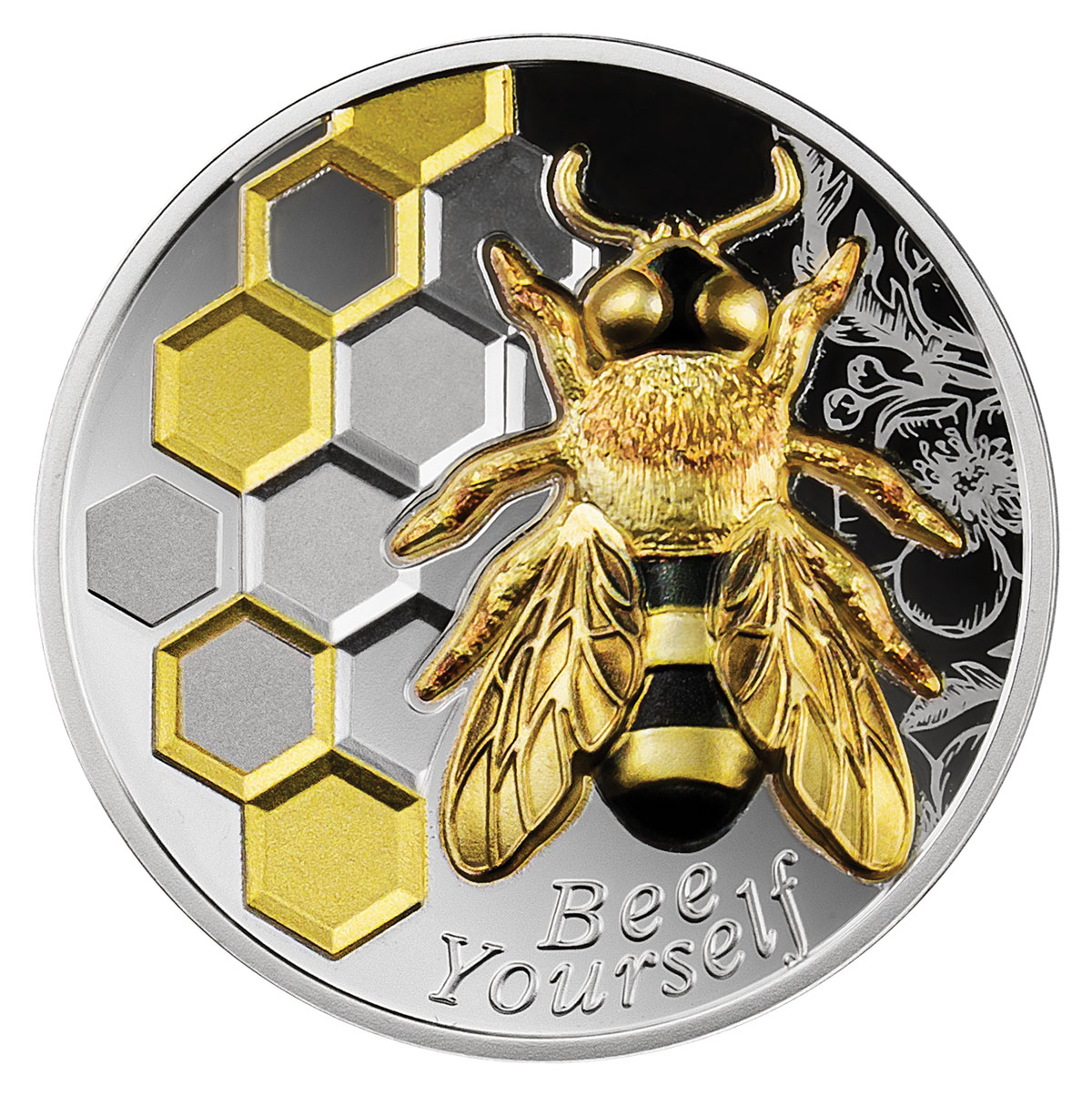 2021 Cameroon Always Bee Yourself Ultra High Relief 1 oz Silver Colorized Proof Fr1,000 Coin GEM Proof