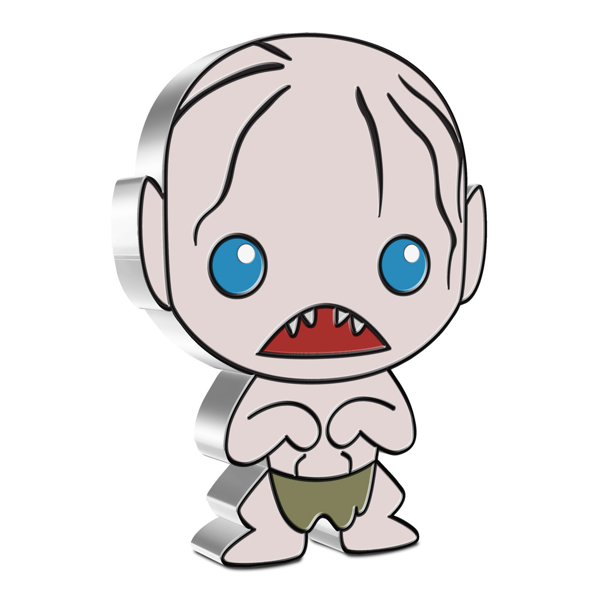2021 Niue Lord of the Rings - Chibi Gollum 1 oz Silver Colorized Proof $2 Coin GEM Proof OGP