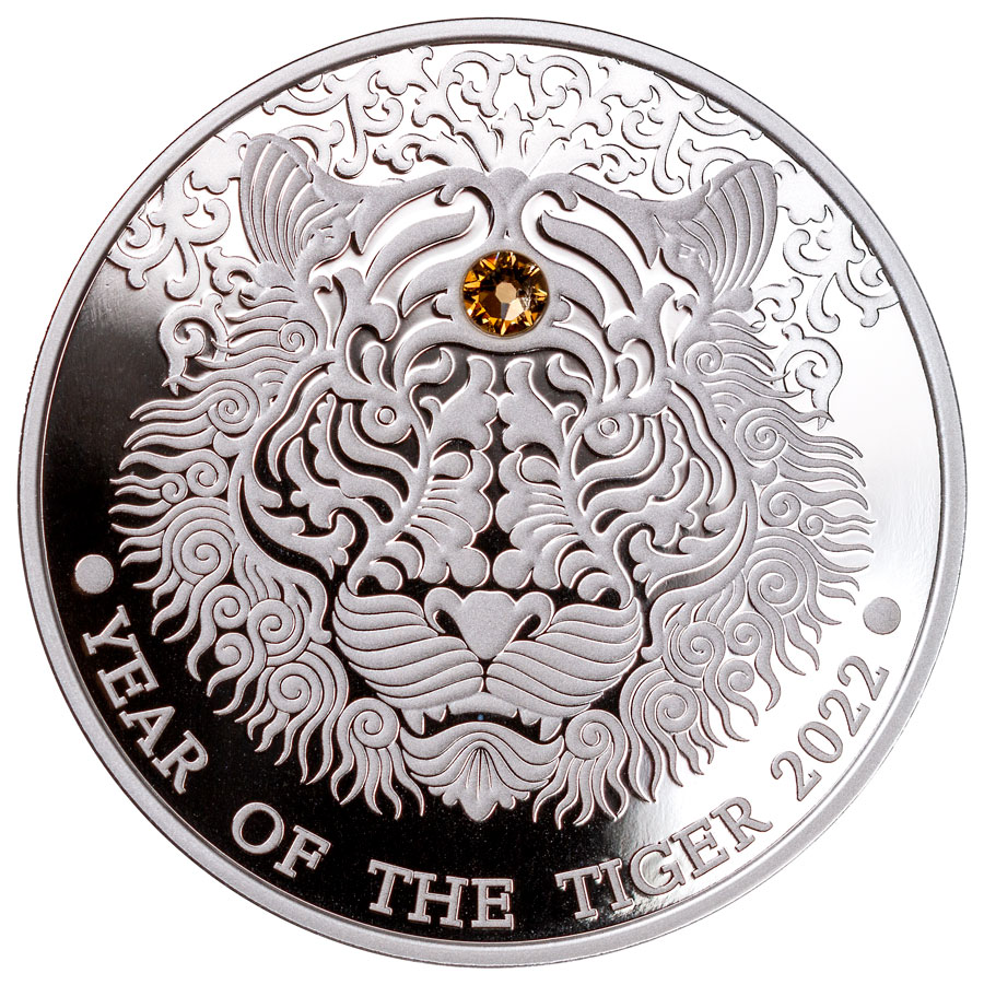 2022 Ghana 15.5 g Silver Year of the Tiger Proof GH¢2 Coin GEM Proof OGP