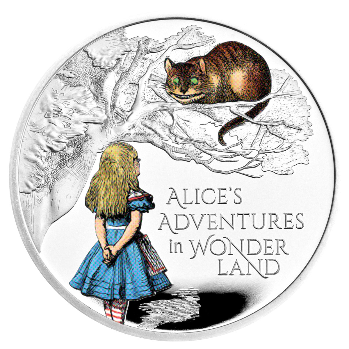 2021 Great Britain Alice's Adventures in Wonderland 1 oz Silver Colorized £2 Coin Proof