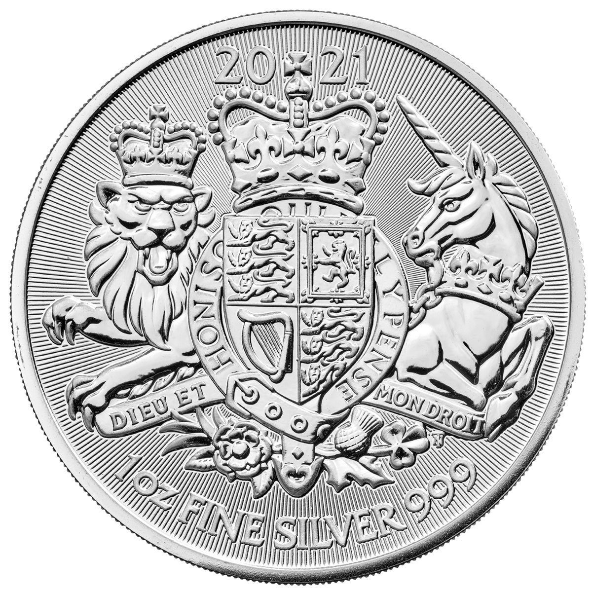 2021 Great Britain Royal Arms 1 oz Silver £2 Coin GEM BU