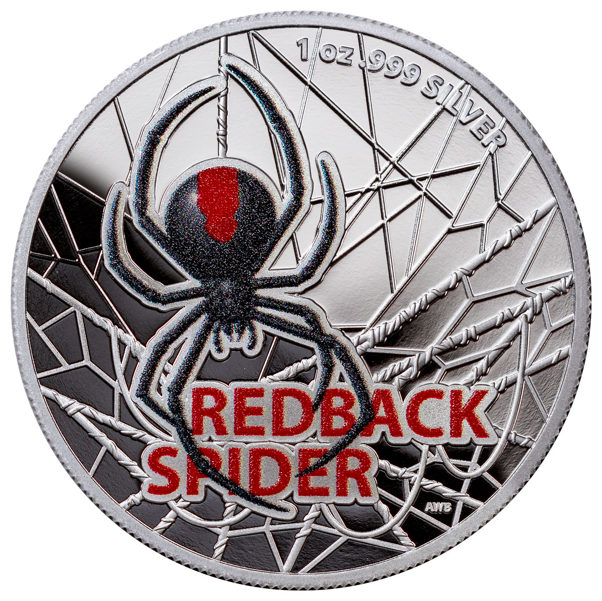 2021 Australia Redback Spider 1 oz Silver Colorized Proof $5 Coin GEM Proof