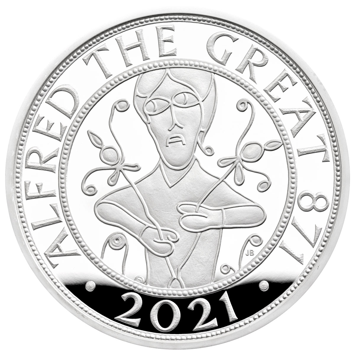 2021 Great Britain Alfred The Great 28.28 g Silver Proof £5 Coin GEM Proof