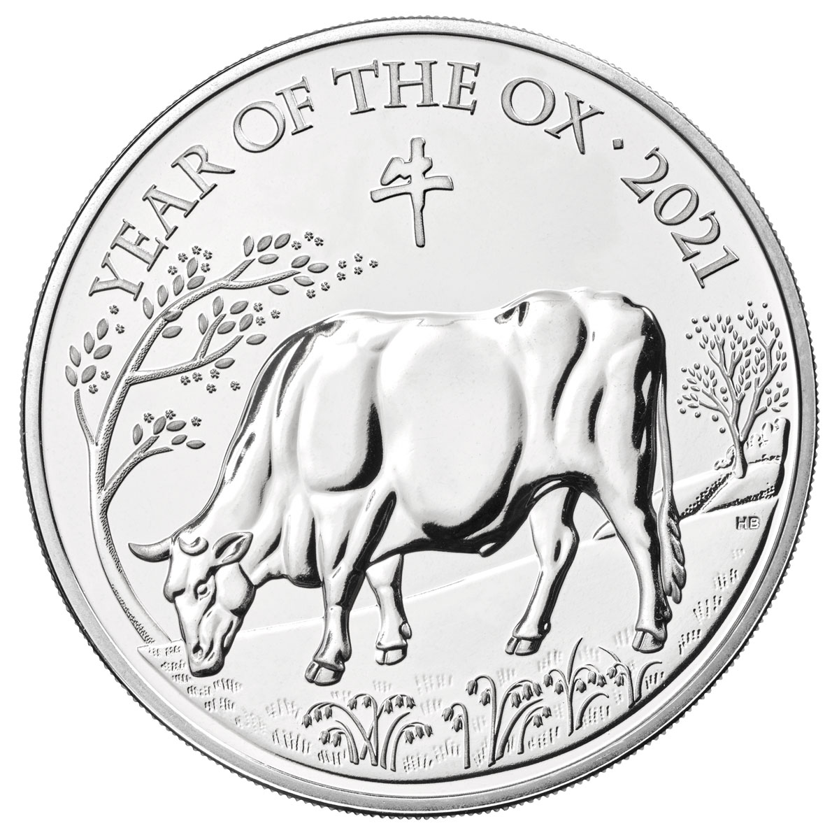2021 Great Britain Year of the Ox CuNi Lunar £5 Coin GEM BU