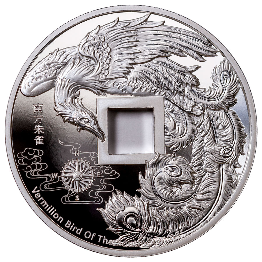 2021 China Vault Protector Vermilion Bird of the South 1 oz Silver Proof Medal GEM Proof