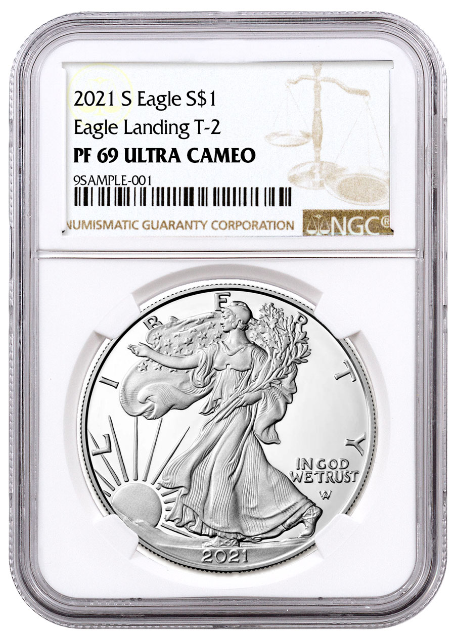 2021-S Proof American Silver Eagle Type 2 NGC PF69 UC Brown Label