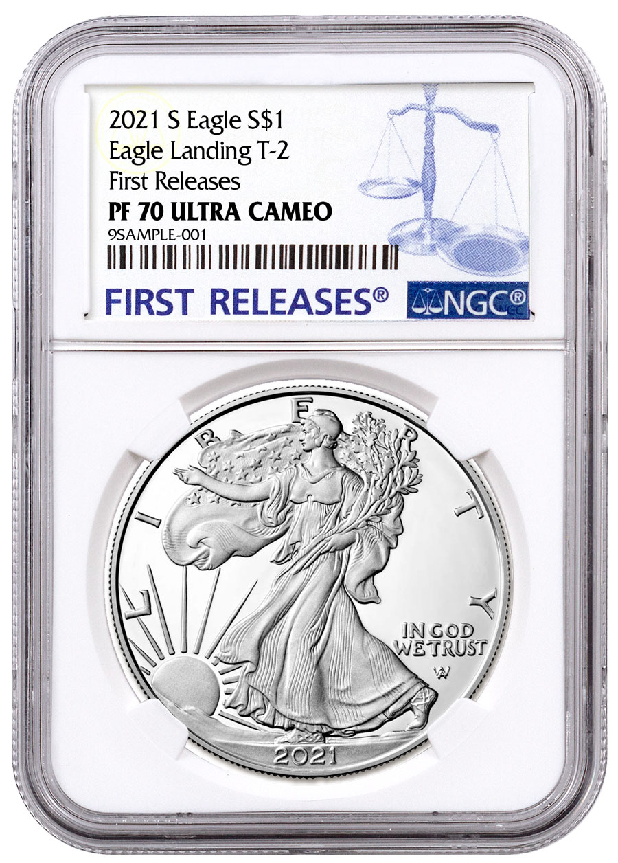 2021-S Proof American Silver Eagle Type 2 NGC PF70 UC FR First Releases Label